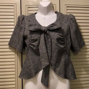 Me and you... (Anthropologie) peplum bow jacket